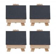Set of Four Easel and Slate Plate Settings 1