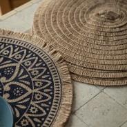 Set of 4 Natural Jute Placemats with Mandala Design 3