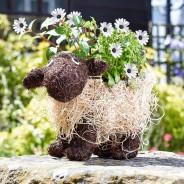 Shelley Sheep Rattan Planter 1