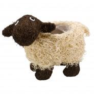 Shelley Sheep Rattan Planter 2