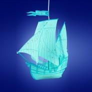 Peter Pan Blue Ship Lamp Shade  1
