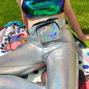 Silver Holographic Laser Leggings 2