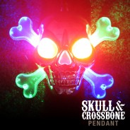 Flashing Skull & Crossbone Pirate Necklace Wholesale 2