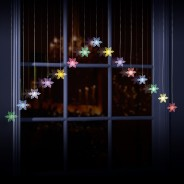 Snowflake Curtain Lights 1