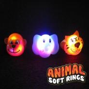 Flashing Animal Soft Rings Wholesale 3