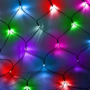 Solar 80 LED Net Lights by Gloworm  2 Multi Coloured