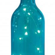 Solar Bottle Light 31cm 3 Blue