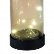 Solar Bottle Light 31cm 6 Smoky Grey