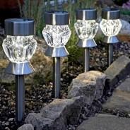 Solar Crystal Stake Lights Nickel (4 pack) 1