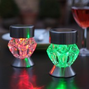 Solar Crystal Stake Lights Nickel (4 pack) 3