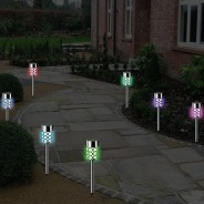 Solar Crystal Stake Lights (4 pack) 1