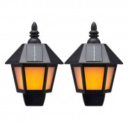 Solar Dancing Flame Wall Lantern (Twin Pack) 1