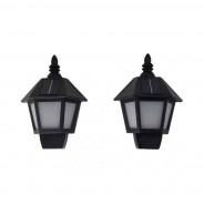 Solar Dancing Flame Wall Lantern (Twin Pack) 2