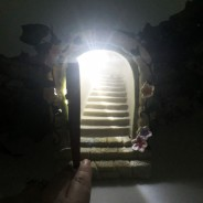 Solar Fairy Door With Steps  2