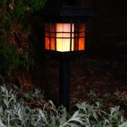 Solar Flickering Lantern With Triple Mount 6