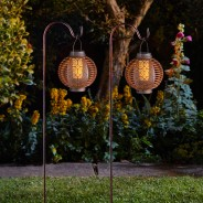 Solar Forli Flaming Lanterns (2 pack) 1