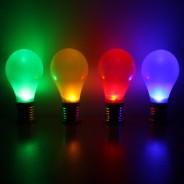 Solar Hanging Coloured Light Bulbs (4 Pack) 2