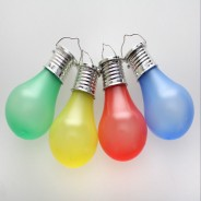Solar Hanging Coloured Light Bulbs (4 Pack) 4