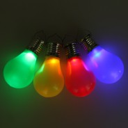 Solar Hanging Coloured Light Bulbs (4 Pack) 3