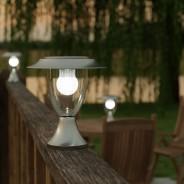 Stainless Steel Solar Henley Pillar Lantern - Fixed 1