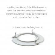 Stainless Steel Solar Henley Pillar Lantern - Fixed 3