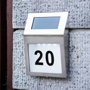 Solar House Number Sign 1