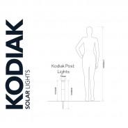 Solar Kodiak PIR Post Light 3