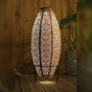 Solar Lanterns 8 Oval in stand