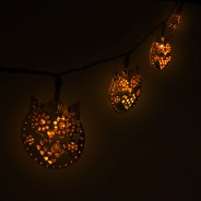 Solar Metal Owl Fairy Lights  1