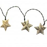 Solar Metal Star Fairy Lights 4