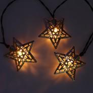 Solar Metal Star Fairy Lights 2
