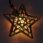 Solar Metal Star Fairy Lights 3