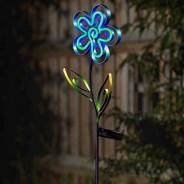 Solar Neon Esque Bloom 2 Blue Daisy