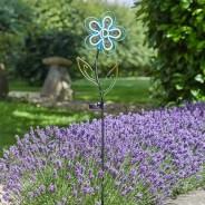 Solar Neon Esque Bloom 4 Blue Daisy