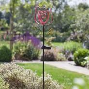Solar Neon Esque Bloom 5 Red Rose