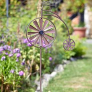 Solar Penny Farthing Wind Spinner 2