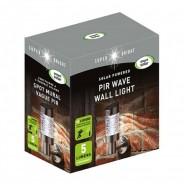 Solar PIR Wave Wall Light 3