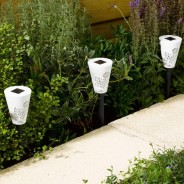 Solar Silhouette Butterfly Stake Lights (6 pack) 3