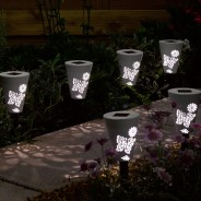 Solar Silhouette Butterfly Stake Lights (6 pack) 2