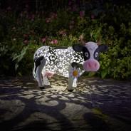 Solar Silhouette Daisy Cow 1