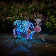 Solar Silhouette Daisy Cow 3