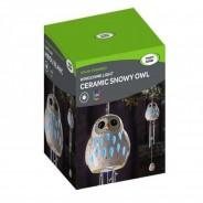 Solar Snowy Owl Windchime 3
