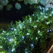 200 Cool White LED Solar String Lights  2