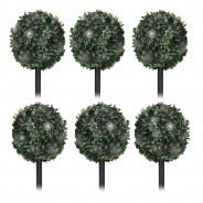 Solar Topiary Bay Trees (6 pack) 2