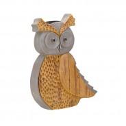 Solar Woodstone Inlit Owl 3