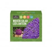 Solar Woven Rattan Lantern 5