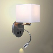 Solara Hotel Wall Light with USB Charger (20395) 1
