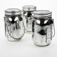Solar Mercury Glass Jar Lights (3 Pack) 4