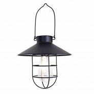 Nautical Solar Lantern Black