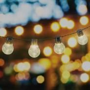 10 LED Warm White Solar Party Lights 2